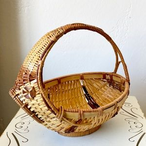 Unique vintage fish piranha wicker basket
